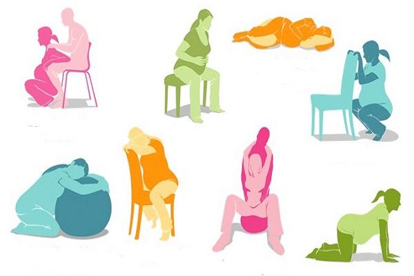 Le posizioni libere nel travaglio di parto